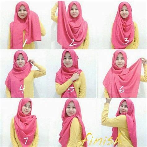 cara memakai jilbab terlengkap dan mudah terbaru 2015 gambar tutorial jilbab pashmina newhairstylesformen2014 com