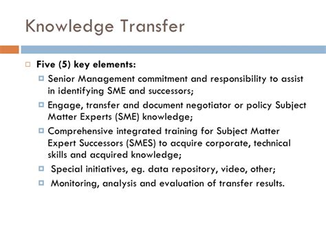 knowledge transfer plan template hr planning presentation