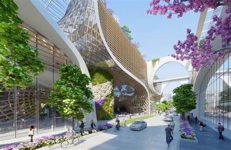 vincent callebaut envisions wooden orchids complex  china