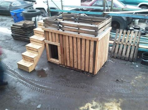 dog house built out of pallets tips to build simple dog house out of some wooden pallets pallets designs