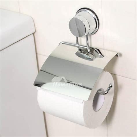 Cheap Chrome Suction Cup No Drill Toilet Paper Holder No Drill Bathroom Accessories