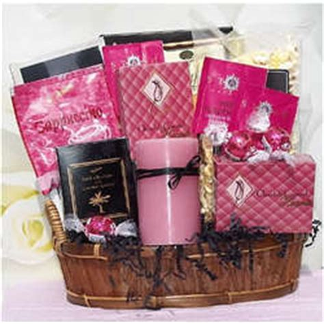 pink gifts pretty in pink gift basket findgift