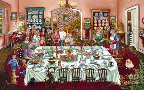 dinner painting thanksgiving dinner colette raker jpg 900 215 562 autumn