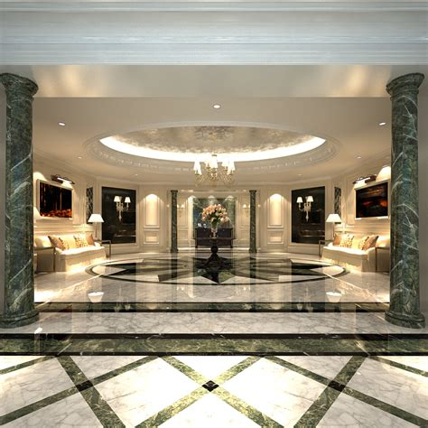 trend luxury lobby design 27 about remodel home decor luxury lobby with marble floor 3d model max cgtrader com