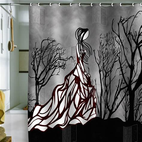 tattoo curtains amy smith lost in the woods shower curtain