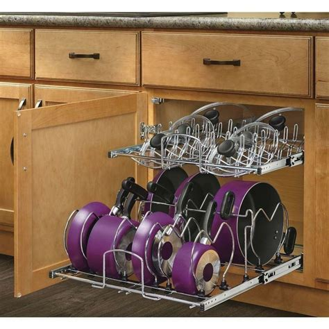 Rev A Shelf Pots And Pans Organizer by Organize Your Pots And Pans With A Metal Pull Out