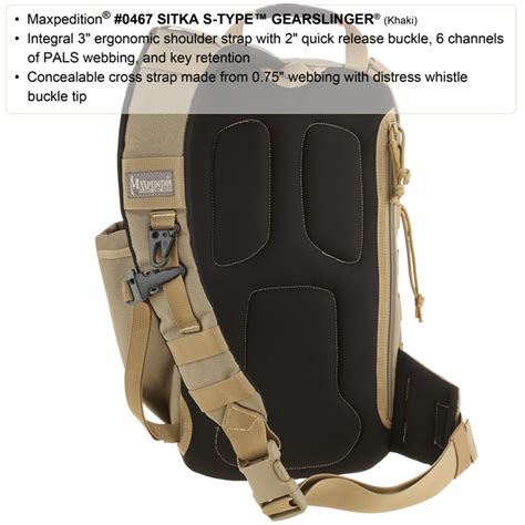 maxpedition s type maxpedition sitka s type gearslinger