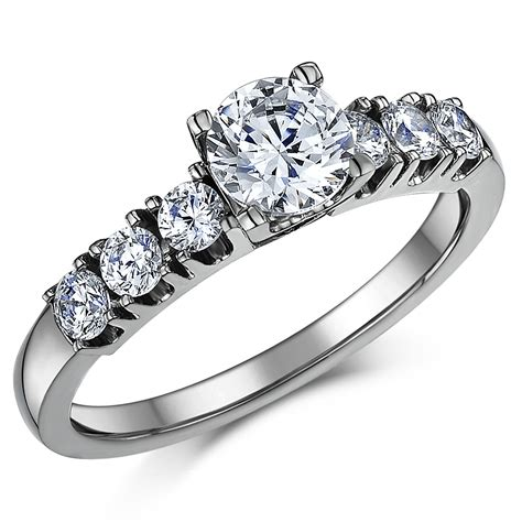 Bridal Rings by Titanium Cz Bridal Set Engagement Eternity And