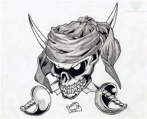 pirate skull tattoo designs pirate skull design with swords
