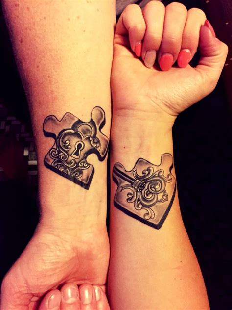 couples puzzle tattoos 30 matching ideas for couples tattoos