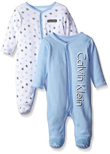 Yuleta Set Overal 2 calvin klein baby boys newborn 2 pack sleep stretchies blue and gray multi 3 6 months toddler