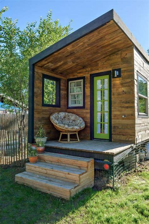 tiny home woman builds her own diy 196 sq ft micro home for 11k