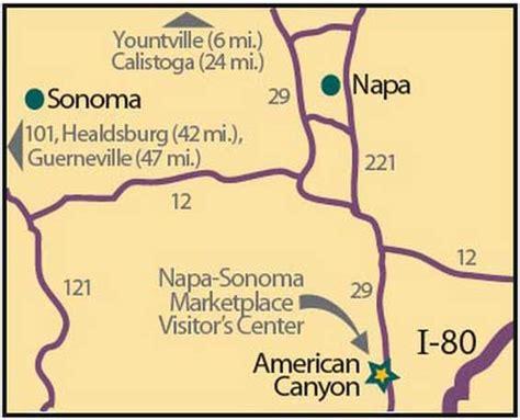 california map napa sonoma napa sonoma market place visitors center services for