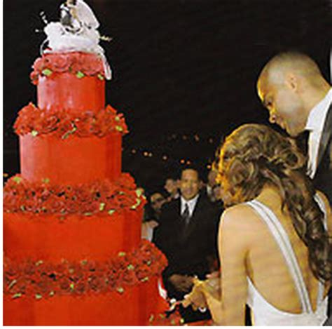 Longoria Tony Parkers Wedding Details Revealed by Tony And Longoria Wedding Cake In With