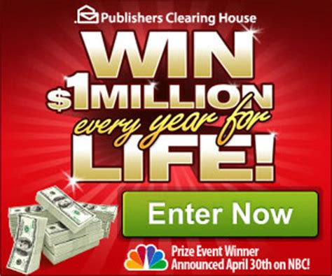 win 1 million a year for life from publisher s clearing house i crave freebies - Pch Win 1 Million A Year For Life