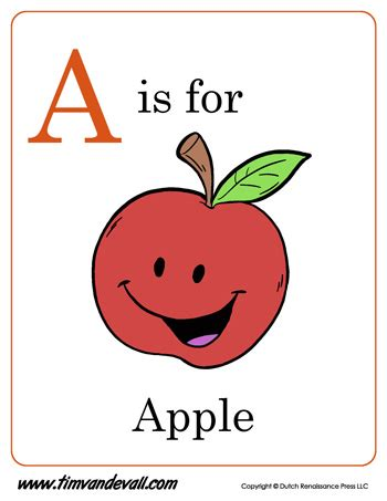 apple letter coloring pdf