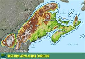 appalachian mountains canada map physiographic regions social studies 10