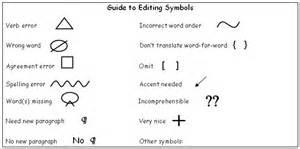 Essay Correction Symbols by Composition Correction Symbols