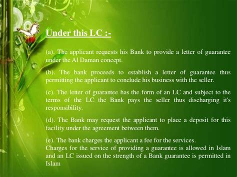 Islamic Letter Of Credit Islamic Letter Of Credit