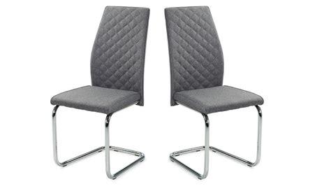 schwingstuhl grau schwingstuhl benno 4er set stuhl webstoff grau und chrom