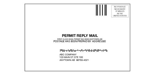 usps business reply mail template dmm 505 return services