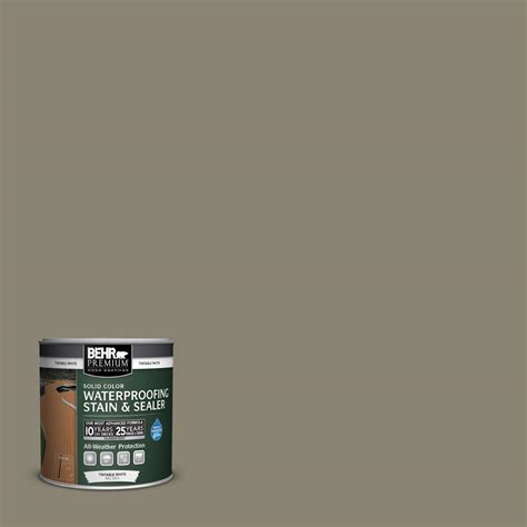 behr premium 8 oz sc154 chatham fog solid color waterproofing stain and sealer sle 501116
