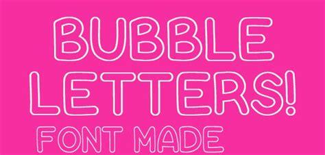 bubble letter fonts  ttf otf format