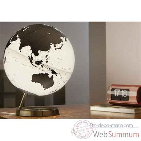 globe lumineux light and colour metal antharcite en