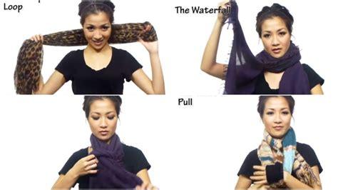 modi di portare la sciarpa 25 modi diversi di indossare una sciarpa