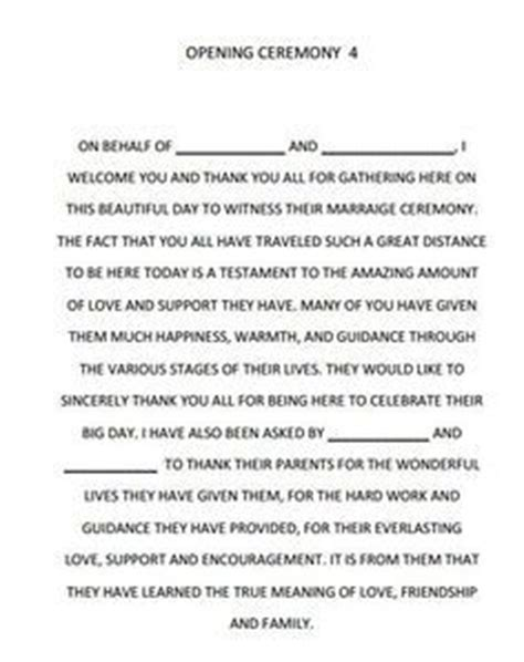 Wedding Blessing Ceremony Script by The World S Catalog Of Ideas