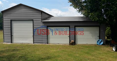 split level metal garage