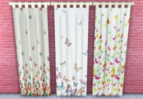 butterfly drapes my sims 4 blog butterfly curtains by sunshineandrosescc
