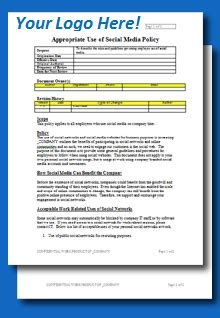 company policies and procedures template free free social media policy template toolkitcafe