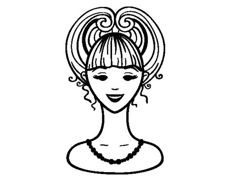 Imagenes De Venados Faciles Para Dibujar   dibujo de peinado recogido para colorear dibujos net
