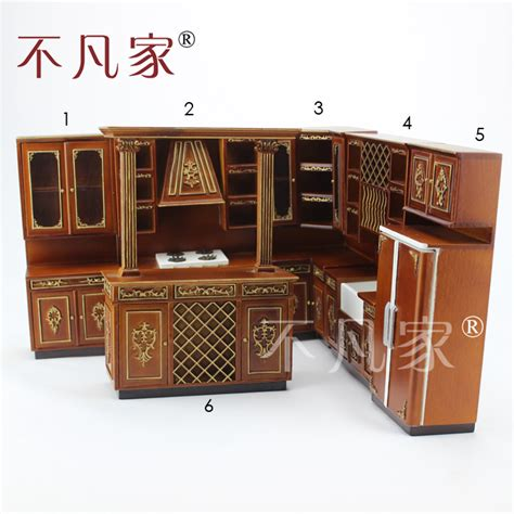 Miniature Dollhouse Kitchen Furniture Popular Miniature Kitchen Cabinets Buy Cheap Miniature Kitchen Cabinets Lots From China