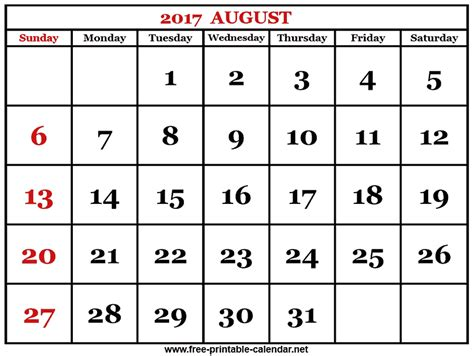 printable calendar that you can edit 2017 august calendar monthly printable 2017 calendar
