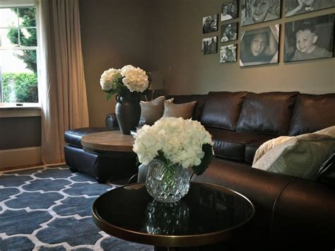 how to decorate with leather furniture 25 best ideas about dark brown couch on pinterest