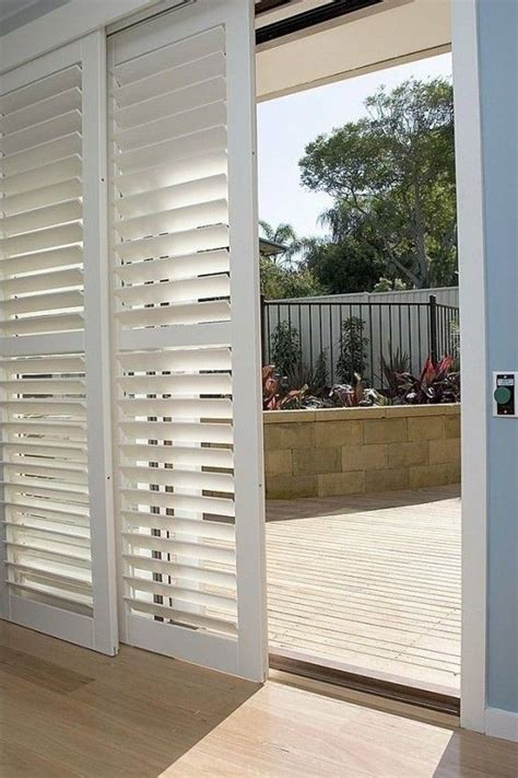 sliding patio door shutters make your doors look expensive on budget sliding doors