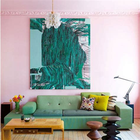 home decor color colour crush emerald green with pink sophie robinson