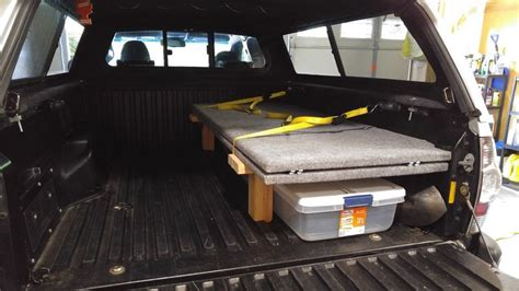 truck bed sleeping platform show us your truck bed sleeping platform drawer storage