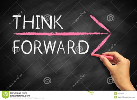 chalkboard paint concepts when writing think forward stock photo image 44911231