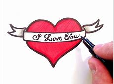 How to Draw a Heart with a Ribbon - YouTube Easy Drawings Of Hearts With Ribbons