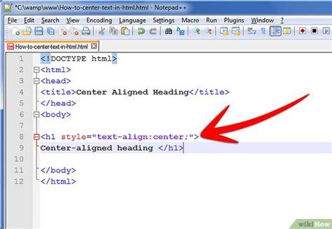 alinear varias imagenes html c 243 mo centrar un texto en lenguaje html 9 pasos