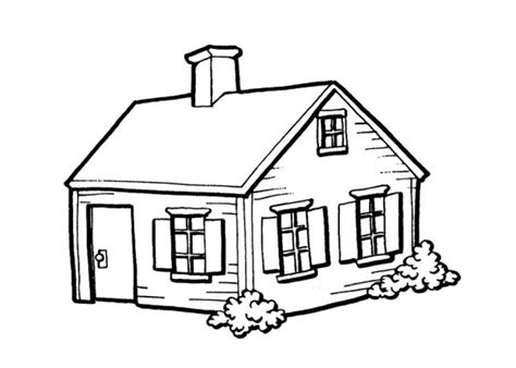 coloring pictures of a house house coloring pages for kindergarten coloringstar