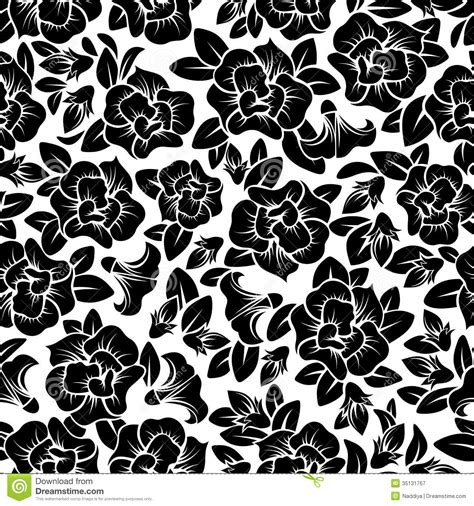 pattern floral black and white seamless floral pattern royalty free stock photography