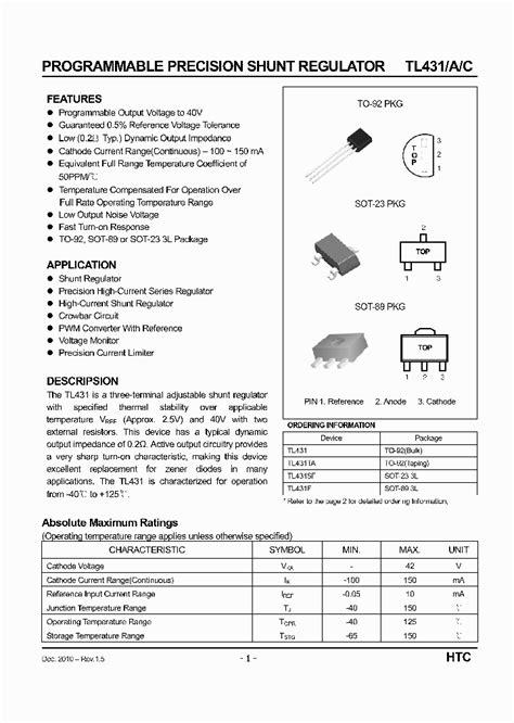 transistor tl431 tl431 2775462 pdf datasheet ic on line