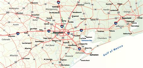 map of southeast texas texas aaroads houston