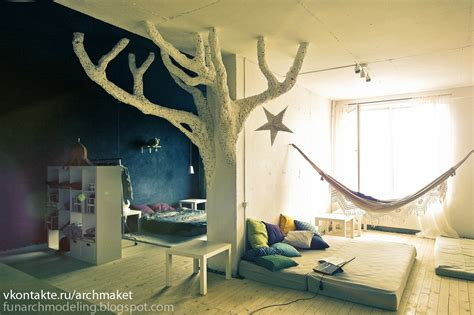 tree bedroom decor whimsical kids rooms