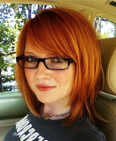 Medium Hairstyles With Bangs And Glasses by 20 Inspirations Of Haircuts With Bangs And Glasses