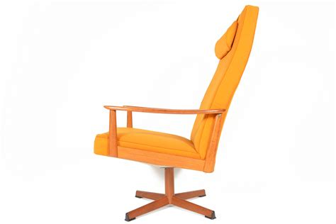 mid century modern swivel chair danish mid century modern tangerine swivel lounge chair ebay